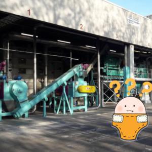 Entusiasmo per il primo impianto di riciclaggio di pannolini?